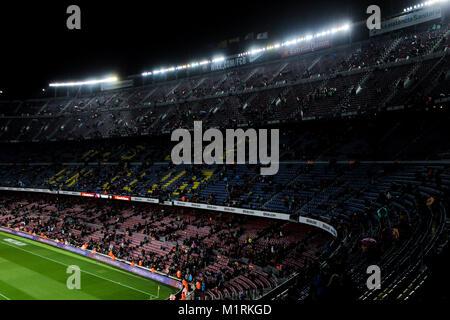 Barcelona, Spain. 1st February, 2018. 1st February 2018, Camp Nou, Barcelona, Spain; Copa del Rey Football, semi - Stock Photo