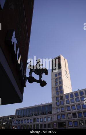 Rathaus, Cityhall, Townhall, Stuttgart, Baden-Württemberg, Deutschland, Europa - Stock Photo