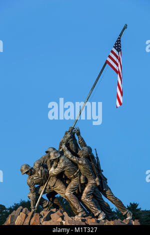 Iwo Jima Memorial (U.S. Marine Corps War Memorial), Arlington, Virginia (Washington, District of Columbia) USA - Stock Photo