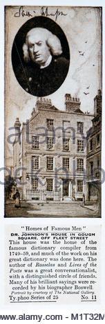 Homes of Famous Men - Dr. Samuel Johnson 1709 – 1784 - Stock Photo