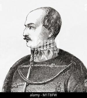 Count Josip Jelačić von Bužim, 1801 –  1859, also spelled Jellachich, Jellačić or Jellasics.  Ban of Croatia, Slavonia - Stock Photo