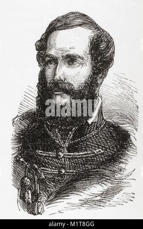 Lajos Kossuth de Udvard et Kossuthfalva, aka Louis Kossuth, 1802 – 1894. Hungarian lawyer, journalist, politician, - Stock Photo