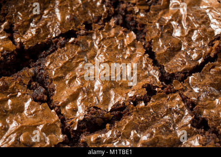 Double Dark Chocolate Brownies Ready to Eat - Stock Photo