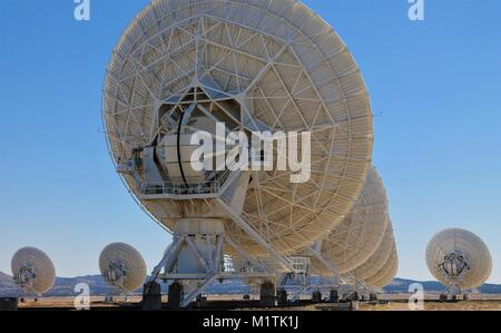 Karl Jansky Very Large Array-a collection of 27 radio astronomy observatories in New Mexico, US.  The site of the - Stock Photo