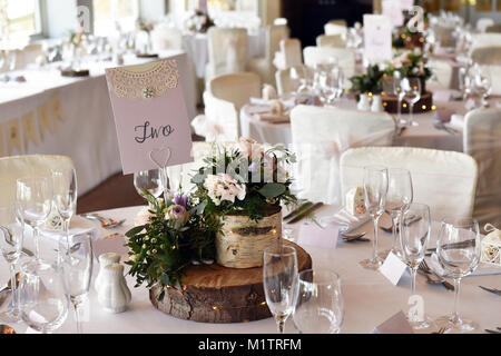 ... Wedding reception tables set up for the wedding breakfast meal. - Stock Photo & Wedding reception tables set up for the wedding breakfast meal Stock ...