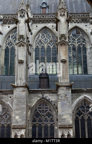 The side-wall of the cathedral  of Saint Gatien in Tours, Loire Valley  France - Stock Photo