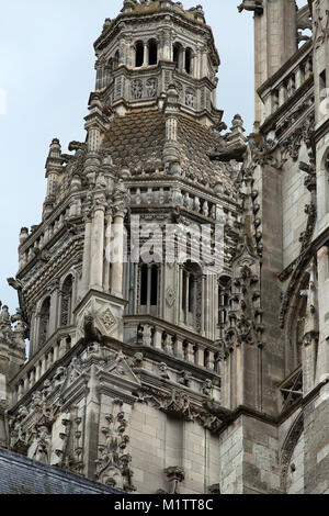 Gothic cathedral of Saint Gatien in Tours, Loire Valley  France - Stock Photo