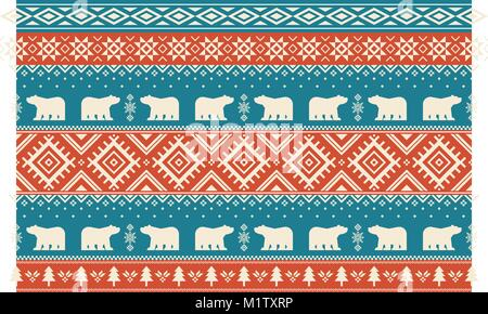 Vector illustration- Winter design pattern in various color tones. 006 - Stock Photo