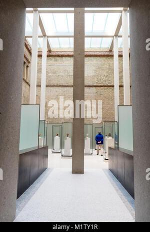 Open light gallery, Neues museum, David Chipperfield, Berlin, Germany - Stock Photo