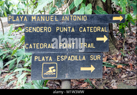 Parque National Manuel Antoino Central Pacific Coast Costa Rica - Stock Photo