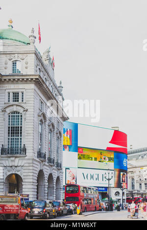 LONDON, UNITED KINGDOM - August 7th, 2014: detail of piccadilly circus in London city centre - Stock Photo