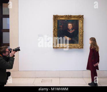 London, UK. 2nd Feb, 2018. Annie Swynnerton's portrait of Millicent Fawcett, newly on display at Tate Britain to - Stock Photo