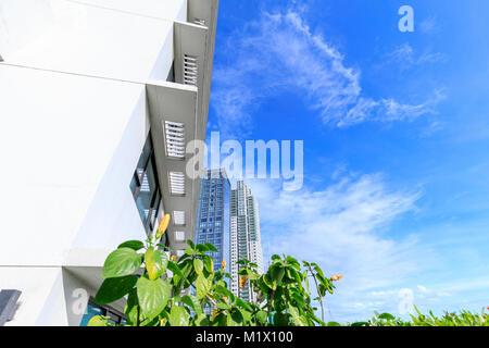 MAKATI, MANILA, PHILIPPINES - JAN 31, 2018 : Road view and skyscrapers in Antonio S Arnaiz Ave - Stock Photo