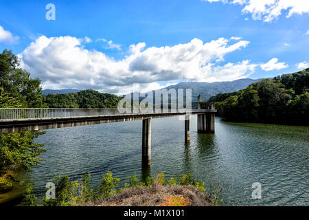 View of Copperlode Dam Lake Morris, Cairns, Far North Queensland, FNQ, QLD, Australia - Stock Photo