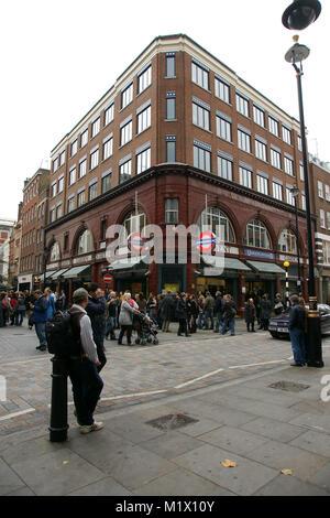 Covent Garden underground station, London - Stock Photo