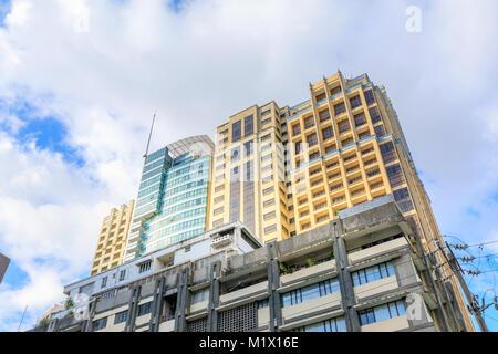 MAKATI, MANILA, PHILIPPINES - JAN 31, 2018 : Skyscrapers in Legaspi village, the business district of Metro Manila - Stock Photo