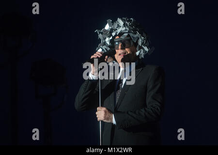 Norway, Bergen – June 17, 2017. The English electronic pop and house duo Pet Shop Boys performs a live concert during - Stock Photo