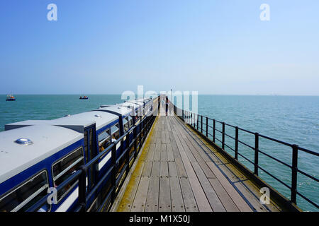 Southend Pleasure Pier, Southend-On-Sea, Essex. - Stock Photo