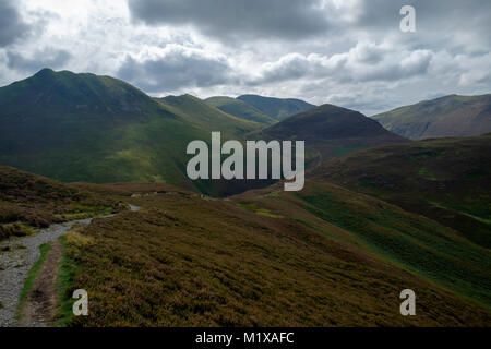 View from Outerside and Barrow, Derwent Water, Keswick, Lake District, England - Stock Photo