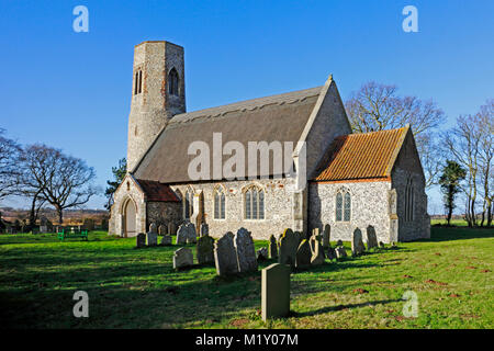 A view of the church of All Saints at Edingthorpe, Norfolk, England, United Kingdom. - Stock Photo