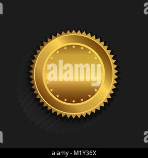 Gold seal logo - Stock Photo
