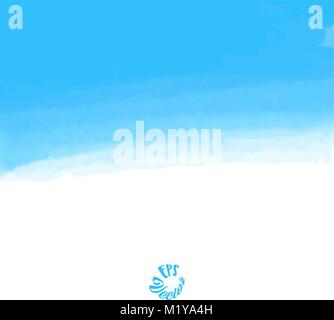 Abstract blue sky watercolor background. Stain in grunge style. Perfect for designing and decorating banners and - Stock Photo