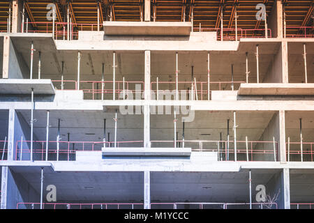 building under construction - construction site of new building - - Stock Photo