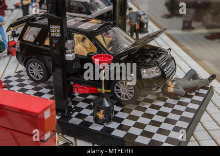 A model of the Land Rover service center Stock Photo, Royalty Free ...