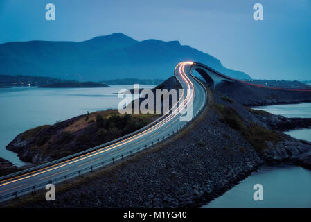 Atlantic Ocean Road Norway taken in 2017 - Stock Photo