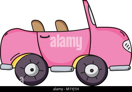 pink sport car to tranport vehicle - Stock Photo