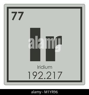 Iridium chemical element periodic table science symbol - Stock Photo