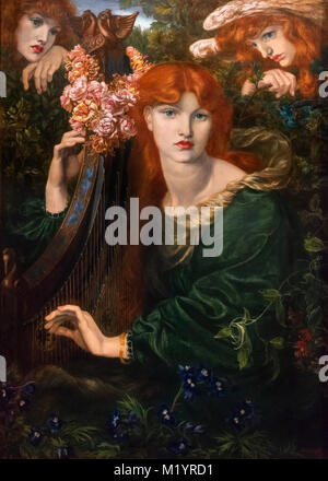 La Ghirlandata by Gabriel Dante Rossetti (1828-1882), oil on canvas, 1873. - Stock Photo