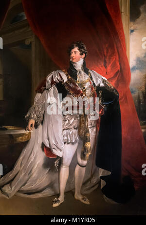 George IV. Portrait of King George IV, attributed to the studio of Sir Thomas Lawrence. - Stock Photo