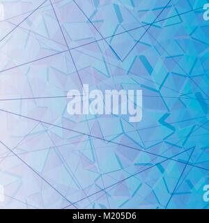 Abstract background for a modern design of triangles in blue ton - Stock Photo