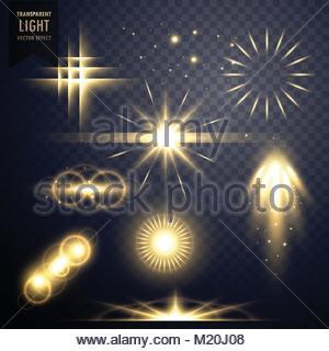 lens flares transparent light effect sparkles design - Stock Photo