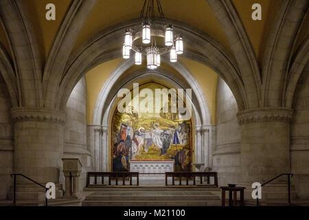 Chapel of St. Joseph of Arimathea, Washington National Cathedral, 3101 Wisconsin Avenue NW, Washington DC - Stock Photo