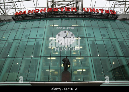 Manchester, UK, 3 Feb 2018. ,Manchester United Football Club, Old Trafford, 3rd February, 2018 (C)Barbara Cook/Alamy - Stock Photo
