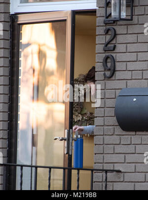 Washington, USA. 25th Jan, 2018. Lisa Page goes into her Capitol Hill home in Washington, DC on Wednesday, January - Stock Photo