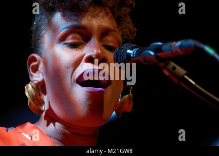 Sandra N' Kake performed in concert at The PLAN at Ris-orangis in Essonne on February 03, 2018 Credit: Véronique - Stock Photo