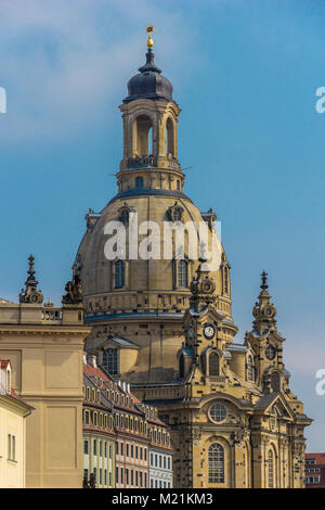 Church in Dresden Frauenkirche Detail Sachsen Germany - Stock Photo