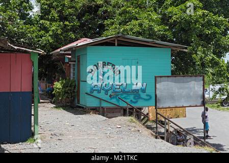 Barber shop in Guabito (Panama) on the border with Costa Rica - Stock Photo