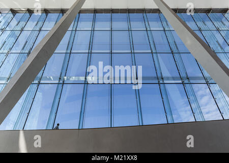 view from the high window front of the opera house in Oslo - Stock Photo