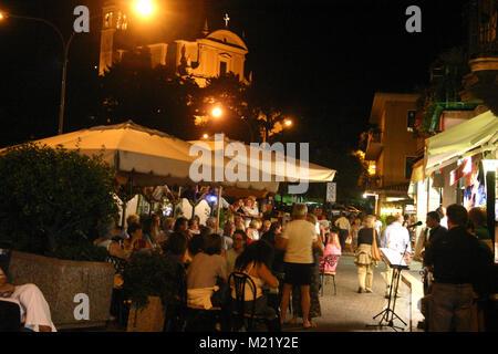 Evening on the promenade in Lago di Garda, Italy - Stock Photo