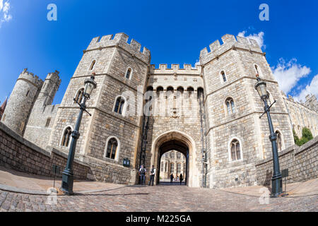 Windsor castle near the London in England, United Kingdom - Stock Photo