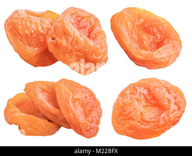 Collection of dried fruit isolated on white background with clipping path - Stock Photo