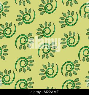 Abstract floral dynamical seamless vector pattern - Stock Photo