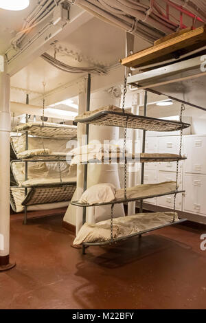 Navy Ship Bunk Beds Stock Photo 24143212 Alamy