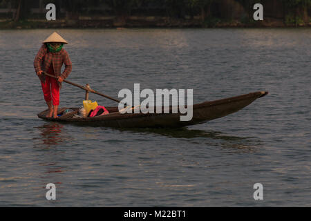 A waterman on river - Stock Photo