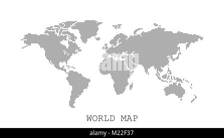 Dotted blank white world map isolated on black background world map dotted blank black world map isolated on white background world map vector template for website gumiabroncs Gallery
