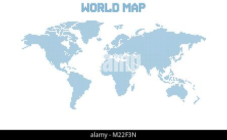 Dotted blank blue world map isolated on white background world map dotted blank blue world map isolated on white background world map vector template for website gumiabroncs Gallery